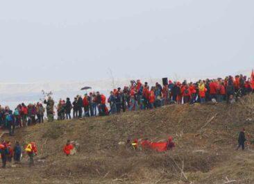 Anti-Kohle-Menschenkette im Rheinland 2015 - Grüne Sachwerte mit dabei