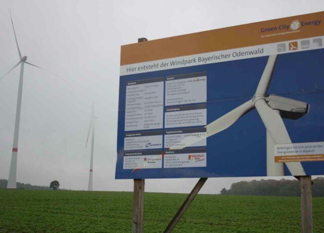 Bürgerwindpark Bayerischer Odenwald Green City Energy