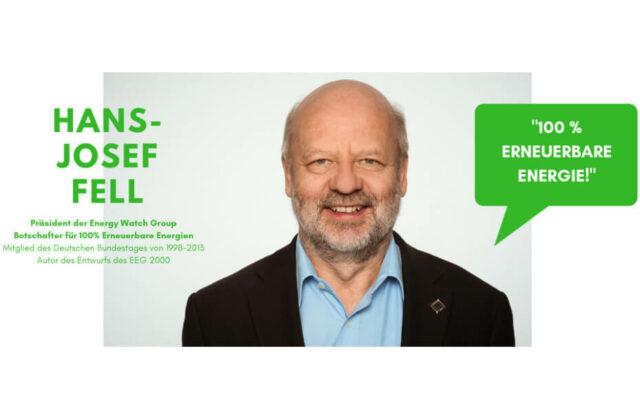 EEG-Novelle 2021 - Hans-Josef Fell, Gründer des EEG