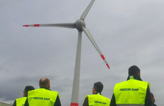 Enercon in Magdeburg: Besichtigung der Windkraftanlagen-Produktion