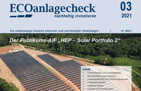 HEP Solar Portfolio 2 ECOanlagecheck