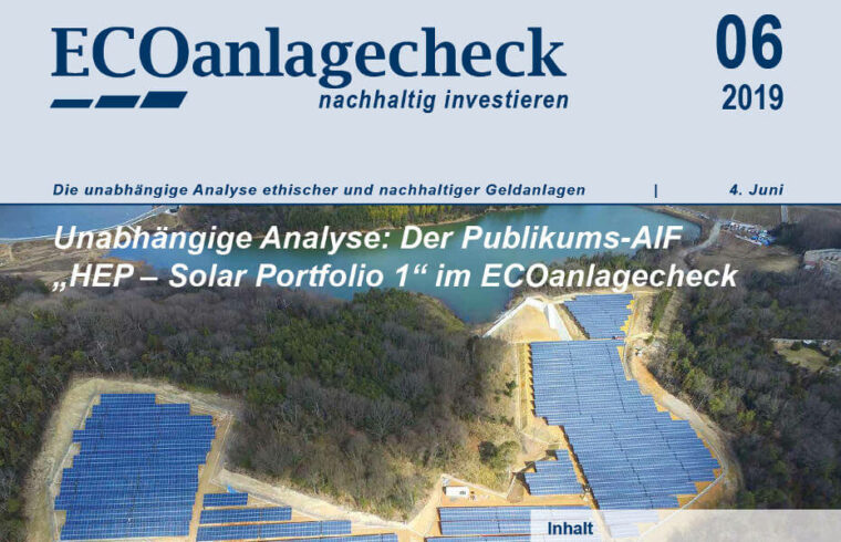 HEP Solar Portfolio 1 - ECOreporter mit ECOanlagecheck