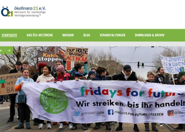 Ökofinanz 21 - das Netzwerk für ökologische Anlage- und Vermögensberatung