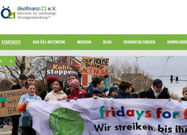 Ökofinanz 21 - Netzwerk ökologischer Finanzberater Deutschlands
