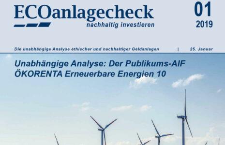 Ökorenta Erneuerbare Energien 10 - ECOanlagecheck von ECOreporter