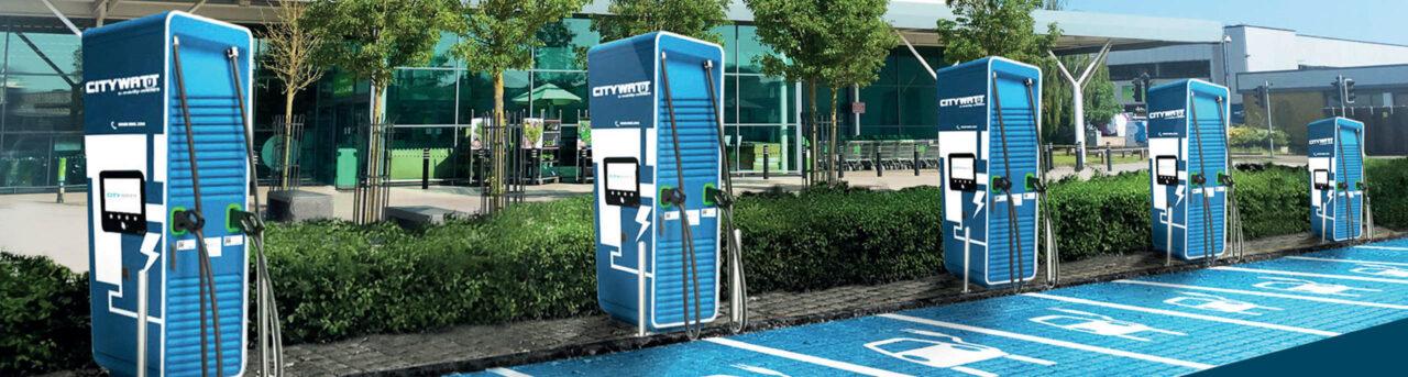 Ökorenta Infrastruktur 13E - E-Tankstellen Citywatt mit Ökostrom