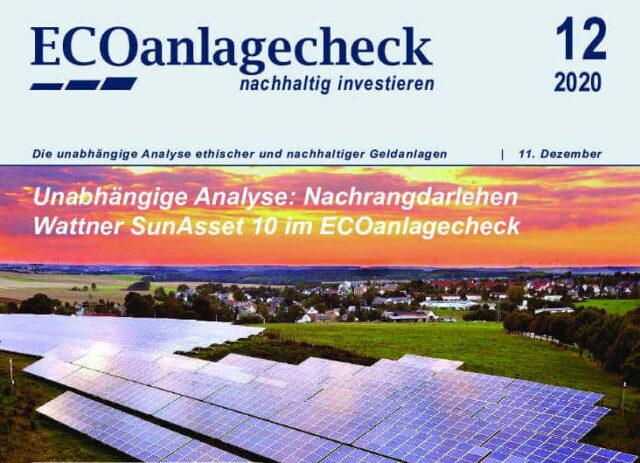 ECOanlagecheck Wattner SunAsset 10 - unabhängige Analyse