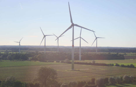 Windfest Thedinghausen - Ausblick auf neue Enercon-Windkraftanlage am Beppener Bruch